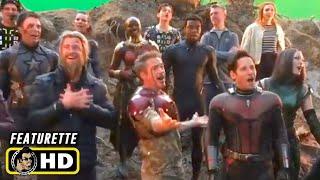 AVENGERS: INFINITY WAR & ENDGAME Secret Behind the Scenes Set Videos [HD] Marvel