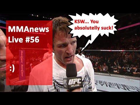MMAnews Live #56: Nieudolna próba zablokowania kanału YouTube przez KSW