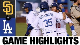 Justin Turner leads the Dodgers to a 6-0 win | Padres-Dodgers Game Highlights 8/12/20