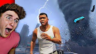MASSIVE TORNADO Chases Me In GTA 5.. (GTA 5 Mods)