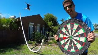 IMPOSSIBLE DARTS BULLSEYE! (WITH HUGE PIPE)   How Ridiculous