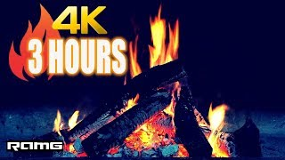 [4K] 3 Hours | Best HD Fireplace | Relaxing & Calming | Fireplace Sounds & Soft Instrumental Music