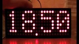 16x64 LED Matrix Digital Clock - Silvester Dao