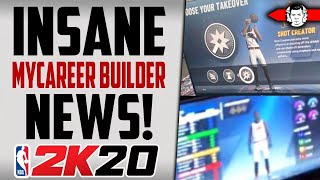 *LEAKED* NBA 2K20 MyCareer Builder News - Superstar Archs, Choosing Takeover!