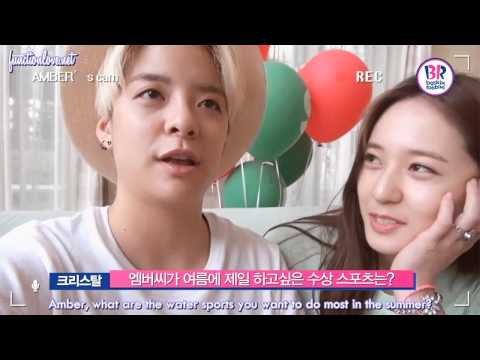 [ENG SUB] 150603 Amber&Krystal Baskin Robbins Self Interview