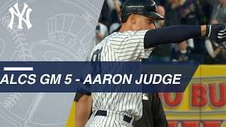 Aaron Judge plates Brett Gardner with a double to left