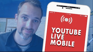 How to Mobile Live Stream on YouTube with the YouTube App (NEW!)