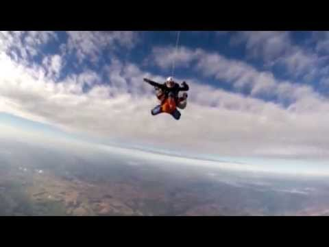 Nicole skydives for MS Society