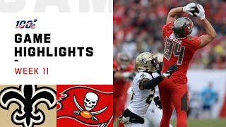 Saints vs. Buccaneers Week 11 Highlights | NFL 2019