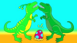 Groovy The Martian transforms into a t-rex dinosaur to save a dinosaur egg that is in danger!