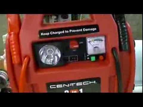 Harbor Freight Cen Tech 3 In 1 Portable Power Pack With
