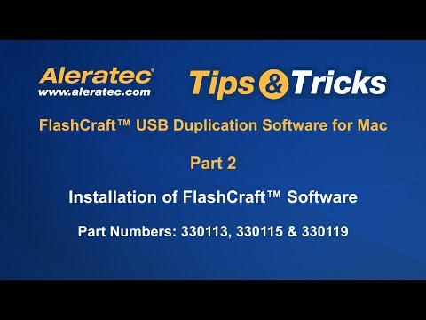How To Install FlashCraft Software for P/N 330119, 330115, 330113 - Aleratec Tips & Tricks Part 2