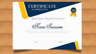 How to make a certificate in PowerPoint/Professional Certificate design/Free PPT