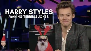 harry styles making terrible jokes for 8 minutes straight