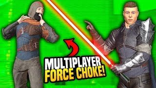 MULTIPLAYER FORCE CHOKE ON WHACKYCAST - Blades and Sorcery VR Mods (Star Wars)