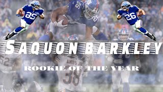 Saquon Barkley: ROOKIE OF THE YEAR  (Mini-Movie)