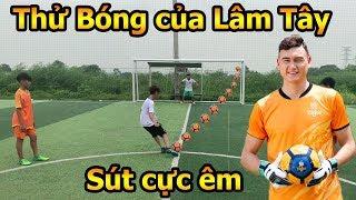 Thử Thách Bóng Đá DKP test trái bóng của thủ môn Đặng Văn Lâm ĐT Việt Nam với loạt Penalty hài hước