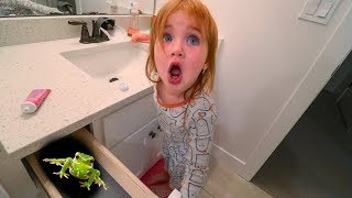 Adley Bedtime Routine!! (watch out for The Game Master)