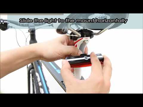 video USB Rechargeable Bicycle Tail Light