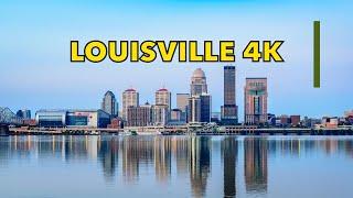 Driving Downtown Louisville 4K Kentucky USA