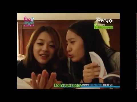 f(x) Krystal reveals who Sulli likes