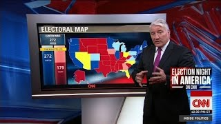 New electoral map & Clinton's election night plan