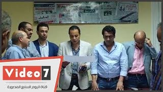 حافظ والساعاتى وسعيد أعضاء نقابة الصحفيين بالإسكندرية     -