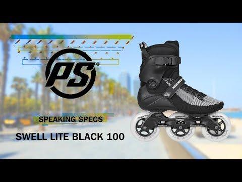 Video POWERSLIDE Roller balade et fitness SWELL LITE Black 100 Trinity Noir