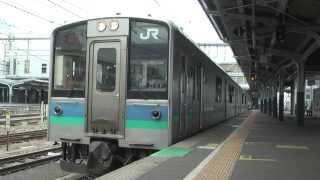 【HD】E127系100番台A10編成発車 松本にて