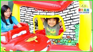 Ryan Pretend Play Drive Thru and Food Truck delivery!