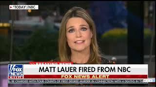 WOW Matt Lauer Fired from NBC.