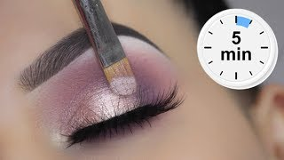 EASY 5 MINUTE Spring Eye Makeup Tutorial | $6 Dollar Palette!!