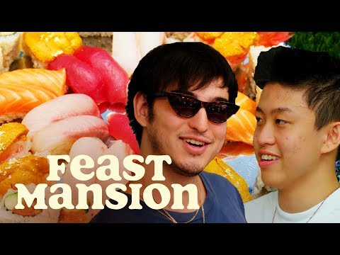 Joji and Rich Brian Learn How to Make Sushi   Feast Mansion