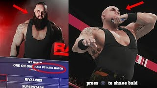 WWE 2K18 - What Happens if Braun Strowman LOSES a Hair vs Hair match in WWE 2K18 Universe?