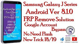 Samsung J6 J8 frp bypass without pc || latest Method 2019 - Android