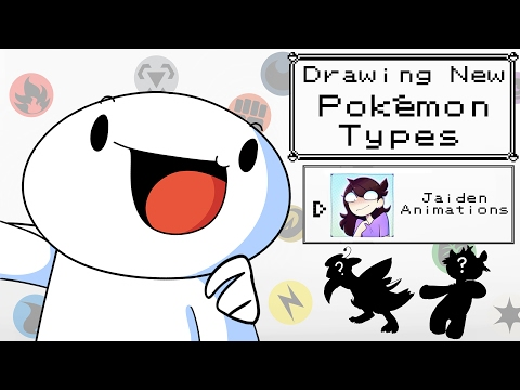 Drawing New Pokemon Types w/Jaiden Animations