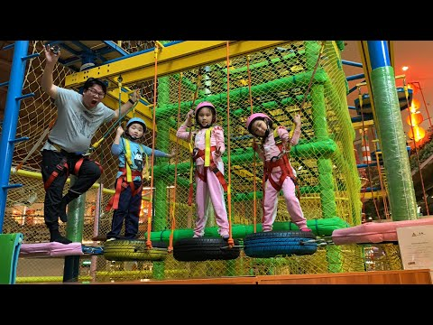 奇幻島探索樂園 在京華城 好玩有趣的極限挑戰 看我們可以爬多高 挑戰自我的極限 手腳並用動動腦 跟著sunny yummy 的玩具箱 一起來運動~