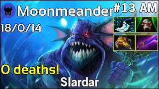 0 deaths! Moonmeander [Tigers] plays Slardar!!! Dota 2 7.20
