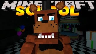 Minecraft School : FIVE NIGHTS AT FREDDY'S - NIGHT  #1  (Custom Roleplay)