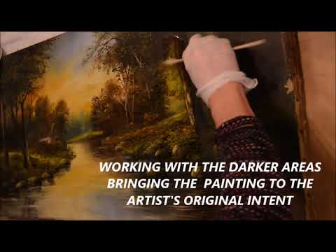 MOST AMAZING CLEANING OF AN OIL PAINTING   ANABELA'S GALLERY