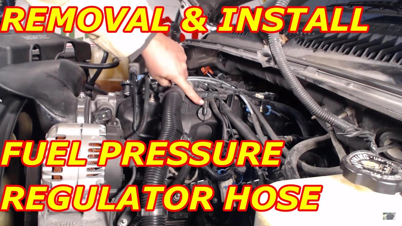 Fuel Pressure Regulator Vacuum Hose Replacement Youtube
