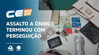 Assalto a ônibus terminou com perseguição aos suspeitos pelas ruas do bairro Serrinha