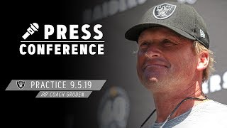 """Coach Gruden on Week 1 vs Broncos: """"We're going to be ready to go""""   Raiders"""