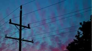 Beachfront B-Roll: Power Lines (Free to Use HD Stock Footage Time Lapse)