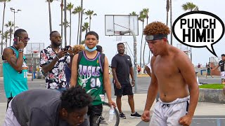 Venice Beach SHI* Talkers Get EXPOSED BAD!! 5v5 Basketball!