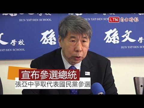 「正毅兄弟」力挺 張亞中宣布爭取代表國民黨選總統