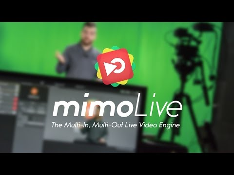 mimoLive Launch Live Stream