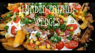 Loaded Potato Wedges | Potato Wedge Nachos