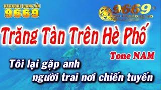 Karaoke Trăng Tàn Trên Hè Phố | Tone Nam beat chuẩn | Nhạc sống LA STUDIO | Karaoke 9669