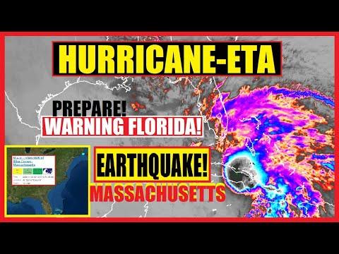 WARNING Florida! Hurricane ETA Double LANDFALL & EARTHQUAKE in MASSACHUSETTS!